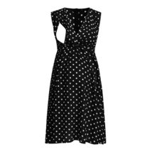Maternity's Dress V Neck Dotted Print Sleeveless Fashion Dress image 4