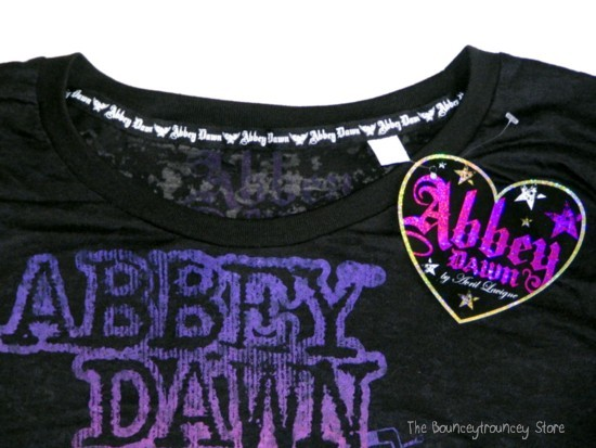 NWT ABBEY DAWN AVRIL LAVIGNE Black Boombox Radio Tee XL