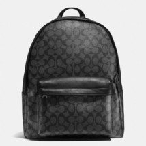 New Coach F55398 Mens Charles Backpack In Signature Charcoal Black NWT - $219.99