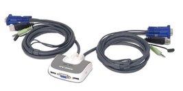 IOGEAR 2-Port Miniview Micro VGA USB PLUS KVM Switch with Audio and Cabl... - $56.92