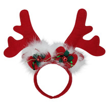 Red Reindeer Antlers Christmas Party Headband with Jingle Bells - €5,04 EUR