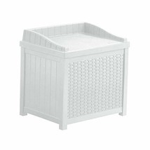 MRT SUPPLY 22 Gallon Outdoor Resin Wicker Storage Patio Deck Box with Se... - $108.21