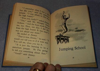 Children's Old Vintage School Reader, Straight Down