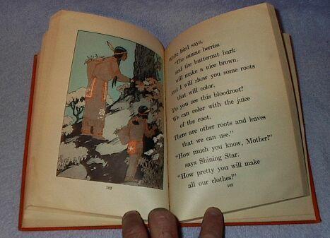 Shining Star the Indian Boy Children's Old Vintage School Reader Book