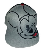 Disney Heather Grey Embroidered Mickey Mouse Brand New Snapback Cap - $11.88