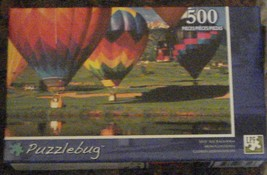 BRAND NEW FACTORY SEALED 500 Piece Puzzlebug Jigsaw Puzzle Hot Air Balloons - $6.92
