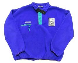 COLUMBIA 1994 Lillehammer, Norway Olympics Purple Fleece Jacket Men's Si... - $59.35