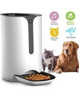Automatic Pet Feeder for Dog and Cat Food Dispenser with Timed Programma... - $136.84 CAD