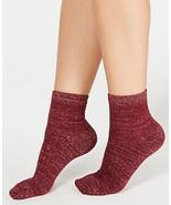 Womens Cozy Ribbed Shimmer Fashion Socks Wine Red INC - NWT - $2.96
