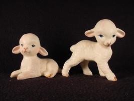 Vintage 1960'-70's 2 Lefton White Lamb Sheep Figurines - $29.99
