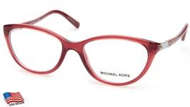 New Michael Kors MK4021B Portillo 3042 Burgundy Eyeglasses Frame 52-16-135mm - $64.34