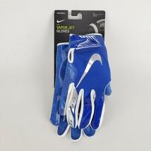 Nike Vapor JET 5.0 Men's Football Gloves Model NFG17922 Large Blue New - $41.66