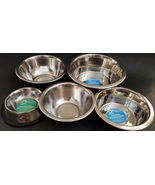 Pet Food Water Stainless Steel Bowls Cats & Dogs  1 Bowl/Pk Select: Bowl... - £2.15 GBP+