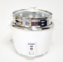 OYAMA Stainless 16-Cup Cooked 8-Cup UNCOOKED Rice Cooker, Stainless Stee... - $55.97
