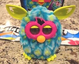 Hasbro Furby Boom Teal Interactive Talking Peacock Lime Green Ears Works... - $24.74