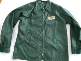 Vintage Dekalb Swingster L Green Seed Corn Farm Jacket Lined USA Snap H - $9.49