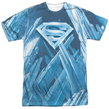 Authentic DC Superman Fortress of Solitude Sublimation Allover Front T-s... - $26.99+
