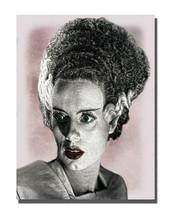 1950's Horror Movie Bride of Frankenstein Monster Design 16x20 Aluminum Wall Art - $59.35