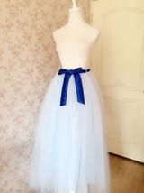 SKY BLUE Plus Size Tulle Maxi Skirt Something Blue Wedding Bridesmaid Skirts NWT image 7