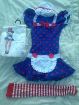 Leg Avenue Jr. Rag Doll Costume, Size M/L  Adult Halloween Clown Play - $42.06