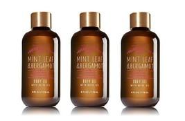 Bath & Body Works Essential Oil Mint Leaf Bergamot Body Oil - 3 Pack - $27.99