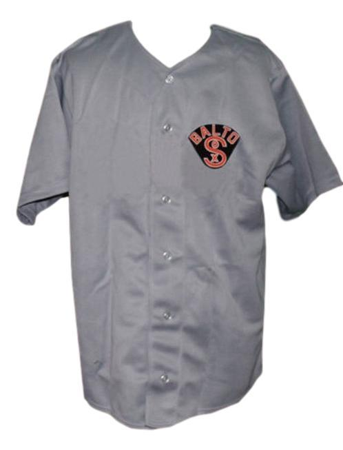 Baltimore black sox retro baseball jersey 1926 button down grey   1