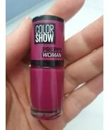 Maybelline Color Show Nail Polish Varnish 60Seconds Dear Magenta Plum Pu... - $11.68