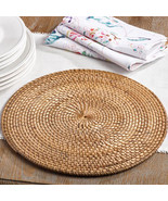 Fennco Styles Round Hand Woven Water Hyacinth Rattan Placemat - $25.99+