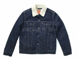 Levis Mens M Juniper Rinse Classic Fit Sherpa Denim Jean Trucker Jacket ... - $103.55