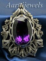 Victorian 3.24ct Rose Cut Diamond Gemstone Wedding Brooch Vintage VTJ EHS - $870.92