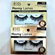 Lot of 2 ARDELL Remy Lashes KERATIN Infused 776 Black Eyelashes Invisiband - $10.89