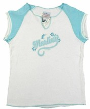 Medium Junior Women's Florida Marlins Shirt Pastel Baseball T-Shirt Tee Top