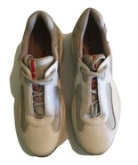 Mens Prada Americas Cup Sneakers White Leather / Mesh- 9.5 US/ 8.5 UK PS... - $148.49