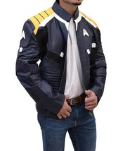 Star Trek Beyond Survival Captain Kirk Leather Jacket Costumes Cosplay - $135.00