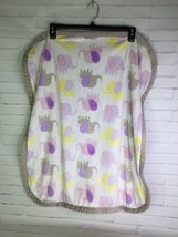Blankets And Beyond Pink Purple Yellow Gray All Over Elephants Baby Blan... - $59.40
