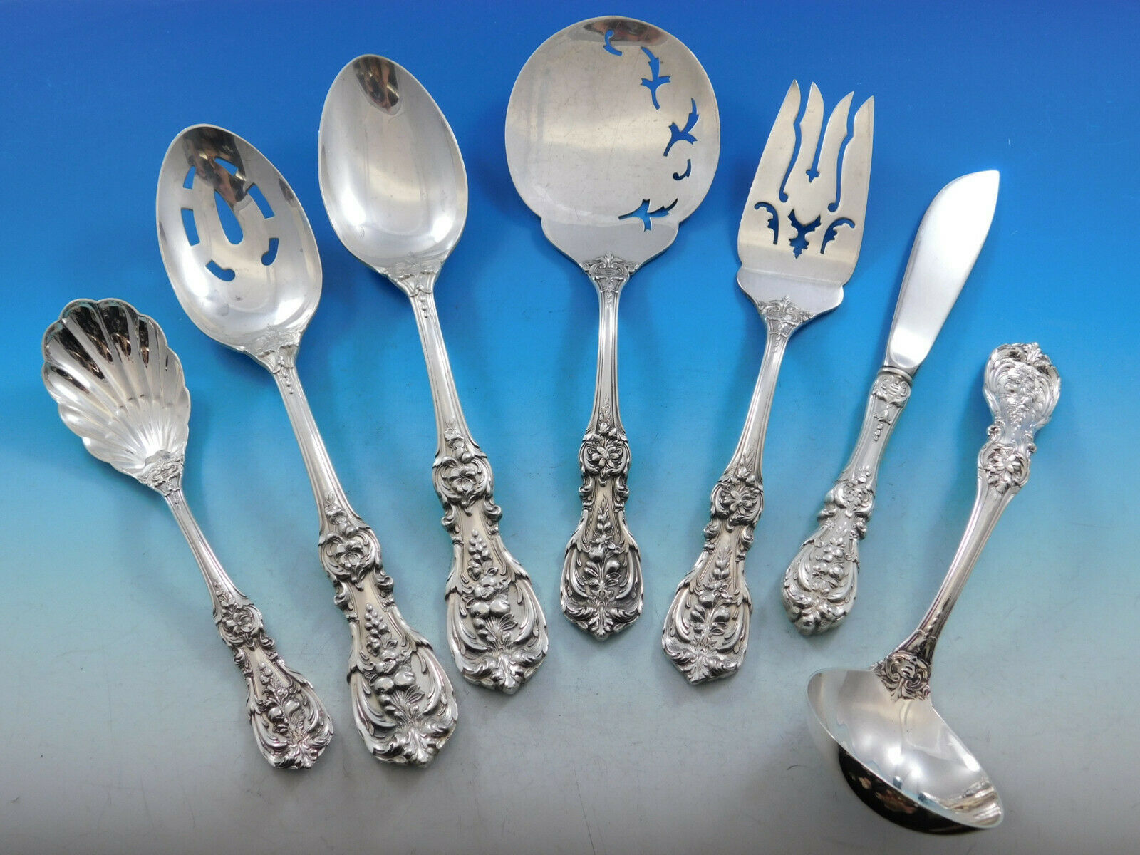 Primary image for Francis I Reed & Barton New Mark Sterling Silver Essential Serving Set Large 7pc