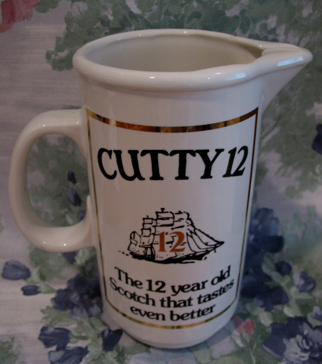 Cutty Sark 12 year old Scotch Whisky Souvenir Pitcher Ship