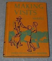 Making Visits Children's 1939 Old Vintage School Reader Book  - $12.95