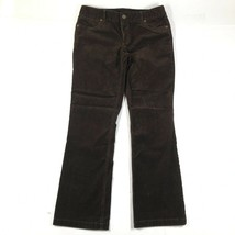 J Crew Corduroy Pants Womens 8 S Brown Favorite Fit Flared Bootcut Cotto... - $23.36