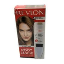Revlon Permanent Root Erase Shade 6 Light Brown Hair Dye New - $9.89