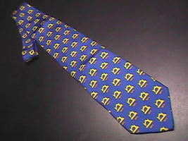 Alynn Neckwear Neck Tie Husqvarna Viking Sewing Machine Blue and Bright ... - $10.99