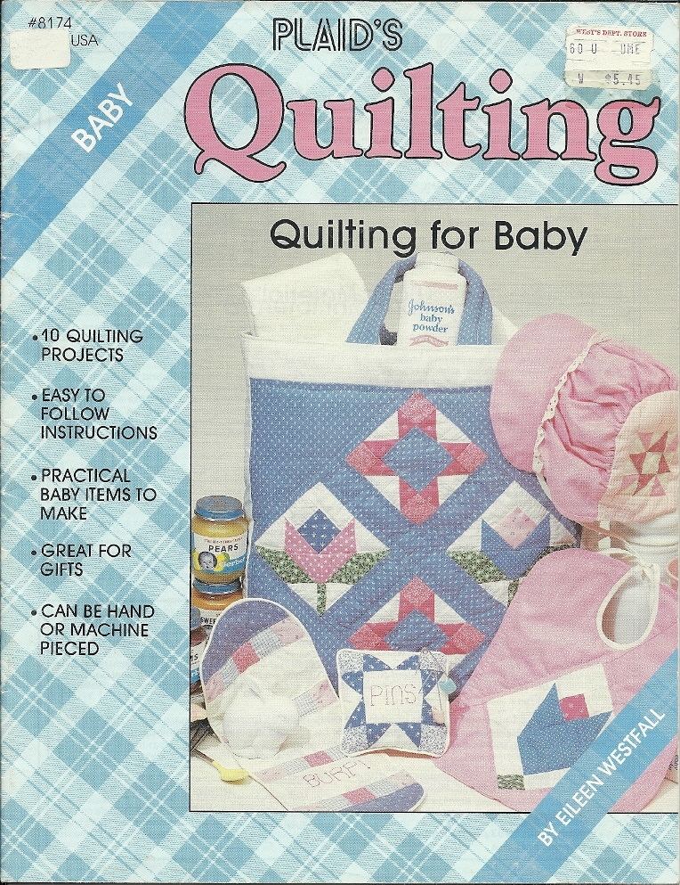 Plaid s 8174  quilting for baby book eileen westfall