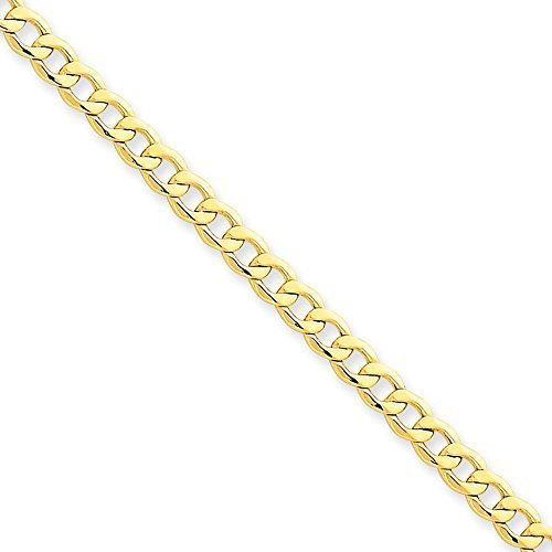 14k 4.3mm Semi-Solid Curb Link Chain
