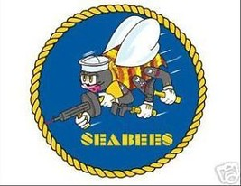 NAVY SEABEES CIRCLE STICKER WINDOW CAR DECAL - $13.53