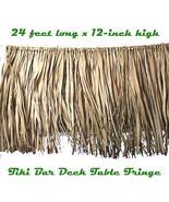 Tropical Luau Decoration REAL RAFFIA DECK FRINGE GARLAND Tiki Bar Grass ... - $25.45
