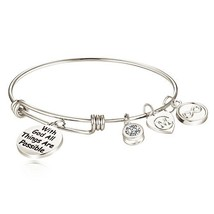 Charmire Inspirational Bangle Bracelet Womens Jewelry Gifts with God All... - $47.88