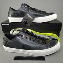 Converse CTAS II 2 Ox x Futura Rubber Pack Shoes Size 11 Mens Sneaker Black Camo - $65.44