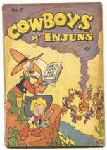 Cowboys 'n' Injuns #2 1946- incomplete comic - $18.92