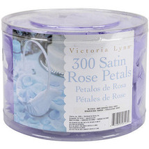 Victoria Lynn Satin Rose Petals 300/Pkg-Purple - $7.59
