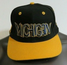 Michigan Wolvenrine Top Of The World Spell Out Vintage Hap Cap Size 6 7/8 - $19.79